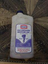 1965 TEXACO Plastic Empty Quart Outboard Oil Can