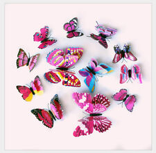 3D Butterfly 12 pcs Magnetic Free sticky pads Wall Art Decals decor stickers
