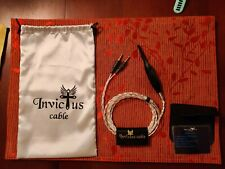 """Silver-plated Cable, Denon AH-D7200, 1/4"""" (6.3 mm) Jack by Invictus"""