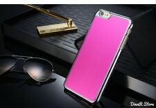 Diseño Metal Funda para Apple iPhone 6 plus cubierta - Fucsia (6pi)