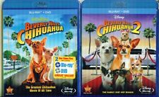 BEVERLY HILLS CHIHUAHUA 1-2-3 : Great Disney Family Fun- NEW BLU RAY+ DVD COMBO
