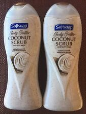 Softsoap Body Butter COCONUT SCRUB Body Buff Wash  Lot 2