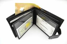 Men's Wallet Genuine Leather Card Slot ID Holder Coin Pocket Zipper Compartment