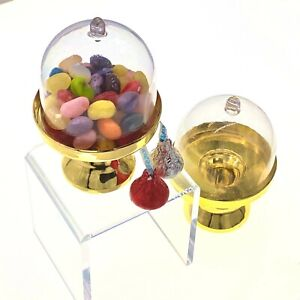 12pc Fillable Dome Cover Gold Dessert Cake Stand Candy Favor Table Decorations
