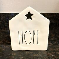 "New Rae Dunn ""HOPE"" Tea Light Candle House with Star LL By Magenta"