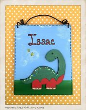 Dinosaur Door Sign PERSONALISED NAME Kid's Children's Wooden Bedroom plaque