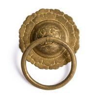 """CBH 2 Chinese LOTUS Brass Hardware Furniture Door Pulls 5"""""""