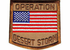 OPERATION Desert Storm Military VET POW USA FLAG MC Biker Vest Patch PAT-2836