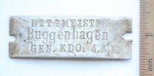 WW1 WWI Original Germany Soldiers Dog ID TAG (GEN.)