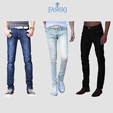 Mens Casual Fashion Skinny Slim Fit Denim Jeans Pants Trousers