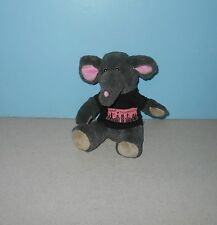 "8"" Dark Grey Elephant Stuffed Plush ""Ticket to Broadway"" T-Shirt By Curto Toys"