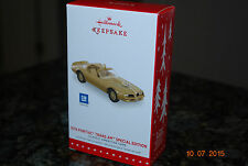 2015 Hallmark 1978 Pontiac Trans Am Classic Cars Limited Xmas Keepsake Ornament