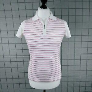 Adidas Climacool Tech 1/4 Zip Top Womens Size M (12-14) Short Sleeve