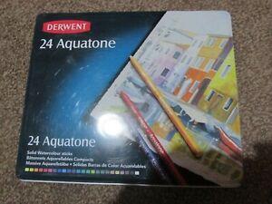 DERWENT AQUATONE SET 24 WOODLESS WATERCOLOUR STICKS *GREAT CONDITION*
