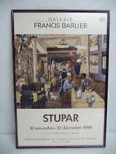 Affiche expo Galerie Francis Barbier STUPAR 1989