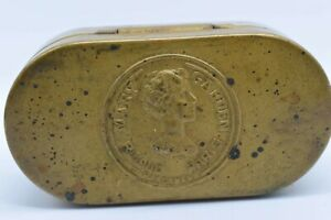 Vintage FRENCH Powder COMPACT OR SNUFF TIN MARY RIGAUD PARIS