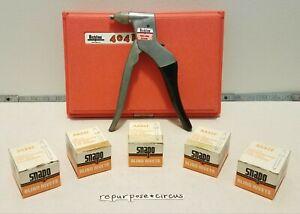 Vintage Cherry Richline 404k Manual Pop Rivet Gun Riveter Tool w/ Case & Rivets