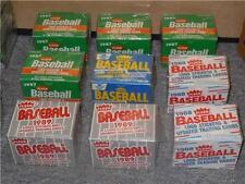 Lot 9 BNISB MLB Baseball Fleer Box Trading Cards & Logo Stickers 1987,88,89,90