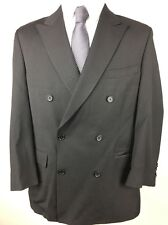 Ralph Lauren Dillards Mens Black Wool Blazer 45 Double Breasted