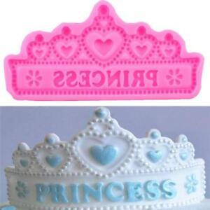 Crown Tiara Princess Cake Topper Fondant Sugarcraft Silicone Mould CH
