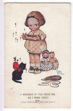 CPA  ANIMAL FANTAISIE -  CHAT MINOU CAT KATZE FILETTE POUPEE ATTWELL 1925 ~B95