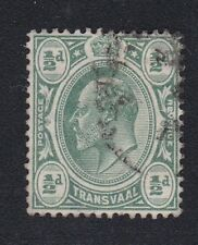 1905-09 EDVII SOUTH AFRICA TRANSVAAL 1/2d SG273 WMK MULTI CROWN CA USED