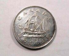 Canada King George VI Silver Dollar 1949 One Year Type Sailing Ship SCARCE NICE