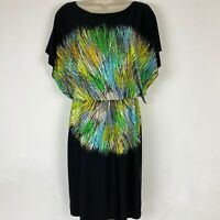 NY and Co Womens XS Multicolor Kimono Sleeve Sheath Dress