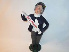 Byers Choice 1998 Rare Gent with Merry Christmas Banner