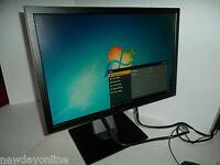 "Dell 19"" Widescreen Black LCD Monitor 1909Wf 4-Port USB Hub DVI VGA XYF7K V8MM9"