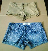 "Womens Size 00 Shorts Abercrombi & Fitch Hollister 0 Lot of 2 Both 24"" Waist"