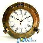 "12"" Antique Marine Brass Ship Porthole Clock Nautical Wall Clock Home Decorative"