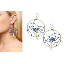 DISNEY COUTURE POCAHONTAS BLUE DREAMCATCHER/FEATHER HOOP EARRINGS**NWT/ONLY $12!