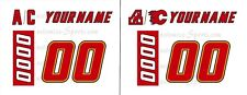 Calgary Flames 1995-2000 Home Jersey Number Kit un-stitched