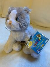 Webkinz Gray and White Cat brand **SMOKE FREE HOME ** Used Cute Toy Doll