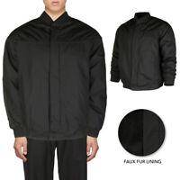 Oscar Sports Men's Sherpa Lined Cotton Hand Pocket Vintage Zip Up Jacket