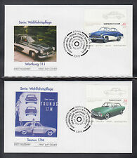 A-21) Germany 2003:  Cars Oldtimer  of 5 beautiful FDC