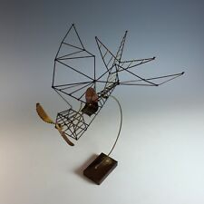 Wire Sculpture of a Single Seat Airplane