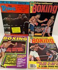 4 Vintage 1974-1978 MUHAMMAD ALI Boxing Magazine Lot The Ring & International ++