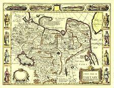 Tartary Tartar Mongol Empire Replica Printed FULL SIZE John Speed 17c. Old Map