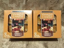 Yankee Candle  FARMERS MARKET  SCENTED TEA LIGHT CANDLE SET NIB (24 TOTAL)
