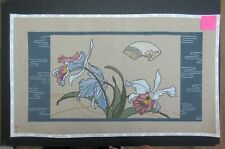 The Red Thread:  Orchid Panel:  Hand Painted Canvas  SQ#350 Retail: $258