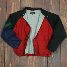 Vintage 90 s POLO RALPH LAUREN couleur bloc HARRINGTON Veste Polo Sport Chaps