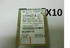 """*Lot of 10* Hitachi 80GB 5400RPM 2.5"""" Laptop Hard Drive SATA HTS541680J9SA00"""