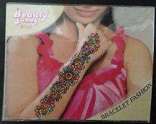Multicolour Glitter Wrist Arm Bindi Tattoo Sticker Body Art Rhinestone Style 2