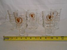 Vintage Set 5 Caesars Glasses Pocono Palace / Cove Haven / Brookdale Gold Rare