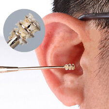 New Double-ended Stainless Steel Spiral Ear Pick Spoon Ear Wax Removal Cleaner