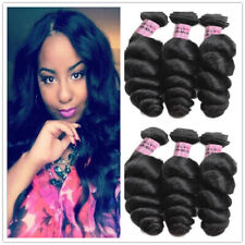 3bundles 150g  Brazilian Loose Wave Unprocessed Human Hair Extension Weave Weft