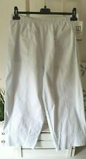 Damenhose Sommerhose Schlupfhose Baumw.. Weiß Gr 52  7/8 Hose Elastischer Bund