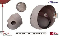 SURE PET CAT CAVE COLLAPSIBLE/PORTABLE CAT HOUSE BNWT